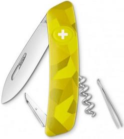 Нож швейцарский Swiza C01 Velor желтый