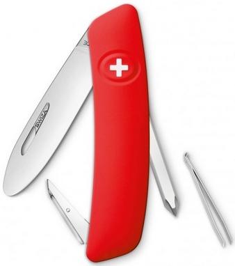 Нож швейцарский детский Swiza J02 Junior красный