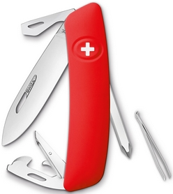 Нож швейцарский Swiza D04 красный