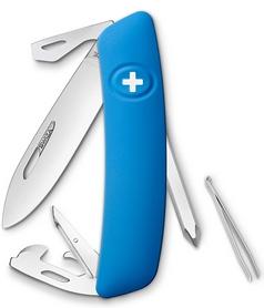 Нож швейцарский Swiza D04 синий