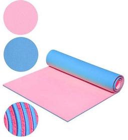 Коврик для фитнеса двухслойный Mega Foam D-2118-pnk 8 мм розовый/голубой