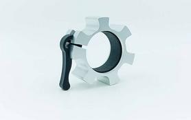 Фото 2 к товару Замки алюминиевые для грифа Zelart Lock-Jaw Pro 50мм TA-5109 серебрянные