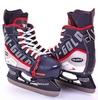 Коньки раздвижные детские хоккейные Tri-Gold PVC TG-KH901R черно-красные 32-35 - фото 1