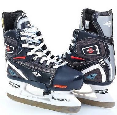Коньки раздвижные детские хоккейные Tri-Gold PVC TG-KH091R черные 32-35
