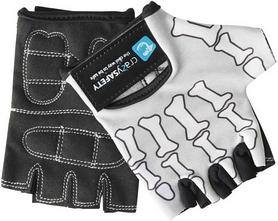 Перчатки велосипедные детские CrazySafety Череп 540165-20 серые