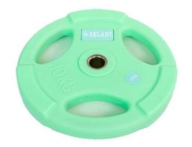 Диск обрезиненный 10 кг Zelart PU TA-5336(28)-10 - 28 мм