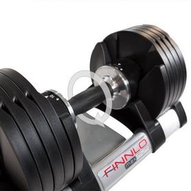 Фото 4 к товару Гантели с переменным весом со стойкой Finnlo Smart Lock 2x20 кг