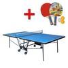 Стол теннисный складной для помещений Gp-5 зеленый + подарок - фото 1