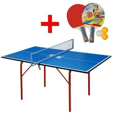 Стол теннисный детский Junior синий + подарок