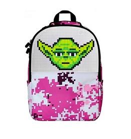 Рюкзак городской Upixel Camouflage розово-белый