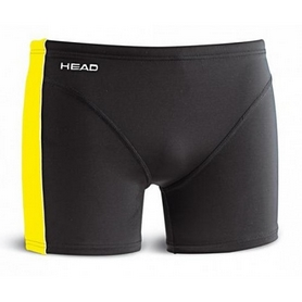 Плавки-шорти мужские Head Solid Panel Boxer Boy - Lycra 27 cм черно-желтые