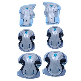Фото 2 к товару Защита для катания (комплект) Rollerblade Lux 3 Pack голубая, размер - S