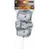 Защита для катания детская (комплект) Reaction Kid's 3-Pack Protective Set бело-серебристая - фото 4