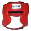 Шлем боксерский закрытый MATSA красный - фото 1