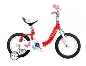 "Велосипед детский RoyalBaby Butterfly - 14"", красный (RB14-19-RED)"