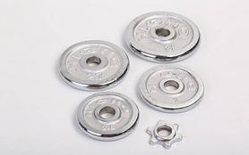 Фото 4 к товару Гантели наборные хромированные 2 шт по 10 кг
