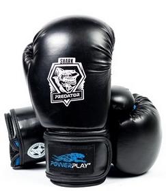 Перчатки боксерские PowerPlay 3001 Predator Shark синие
