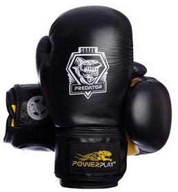 Перчатки боксерские PowerPlay 3001 Predator Shark желтые