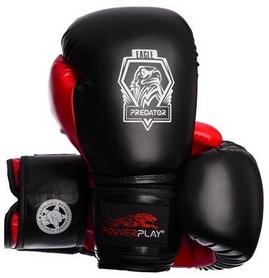 Перчатки боксерские PowerPlay 3002 Predator Eagle красные