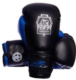 Перчатки боксерские PowerPlay 3002 Predator Eagle синие