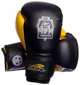 Перчатки боксерские PowerPlay 3002 Predator Eagle желтые