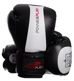 Перчатки боксерские PowerPlay 3003 Predator Tiger белые