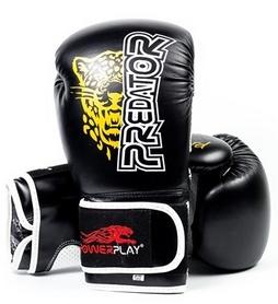 Перчатки боксерские PowerPlay 3009 Predator Leopard черные