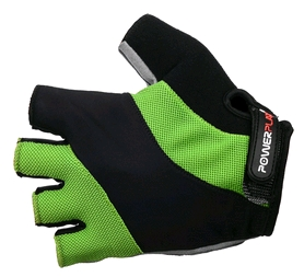 Перчатки велосипедные PowerPlay 5041 A зеленые