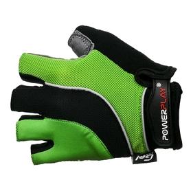 Перчатки велосипедные PowerPlay 5037 зеленые