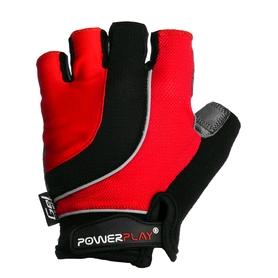 Перчатки велосипедные PowerPlay 5037 B красные - L