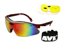 Очки спортивные AVK Veloce красные