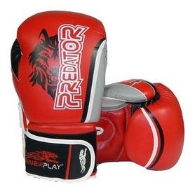 Перчатки боксерские PowerPlay 3005 Predator Wolf красные