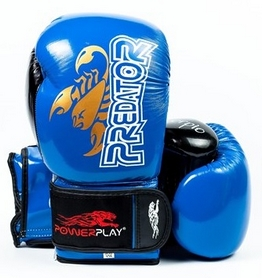 Перчатки боксерские PowerPlay 3007 Predator Scorpio синие