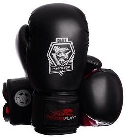 Перчатки боксерские PowerPlay 3001 Predator Shark красные