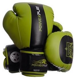 Перчатки боксерские PowerPlay 3003 Predator Tiger зеленые
