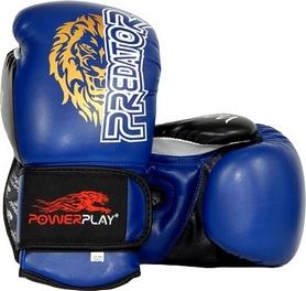 Перчатки боксерские PowerPlay 3006 Predator Lion синие