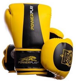 Перчатки боксерские PowerPlay 3003 Predator Tiger желтые