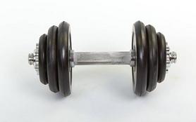 Фото 2 к товару Гантели наборные обрезиненные 2 шт. по 6,5 кг
