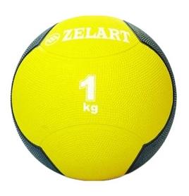 Мяч медицинский (медбол) ZLT FI-5121-1 1 кг желтый