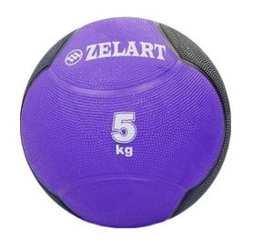 Мяч медицинский (медбол) ZLT FI-5121-5 5 кг фиолетовый