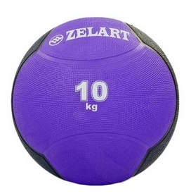 Мяч медицинский (медбол) ZLT FI-5121-10 10 кг фиолетовый
