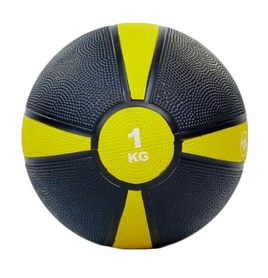 Мяч медицинский (медбол) ZLT FI-5122-1 1 кг желтый