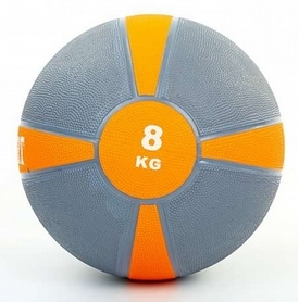 Мяч медицинский (медбол) ZLT FI-5122-8 8 кг серый с оранжевым