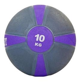 Мяч медицинский (медбол) ZLT FI-5122-10 10 кг серый с фиолетовым