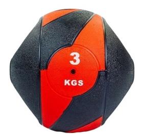 Мяч медицинский (медбол) Pro Supra FI-5111-3 3 кг черный с красным