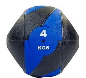 Мяч медицинский (медбол) Pro Supra FI-5111-4 4 кг черный с синим