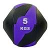 Мяч медицинский (медбол) Pro Supra FI-5111-5 5 кг черный с фиолетовым - фото 1