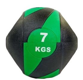Мяч медицинский (медбол) Pro Supra FI-5111-7 7 кг черный с зеленым