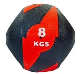 Мяч медицинский (медбол) Pro Supra FI-5111-8 8 кг черный с красным