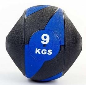 Мяч медицинский (медбол) Pro Supra FI-5111-9 9 кг черный с синим